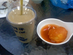 iced coffee and tukneneng