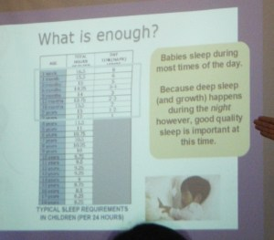 what is enough typical sleep requirements for children?