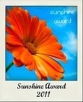Hoshi receives Sunshine BlogAward