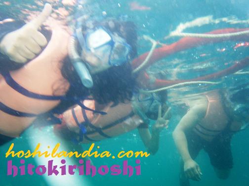 snorkelling in Honda Bay, Palawan
