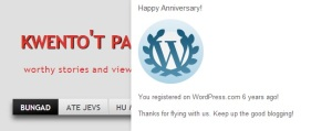 greet from wordpress